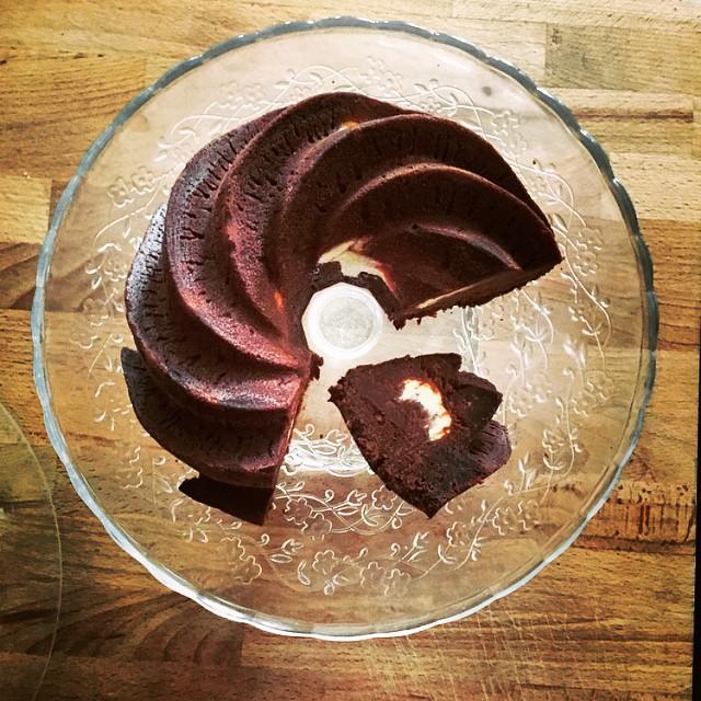 Schoko Cheesecake Gugelhupf